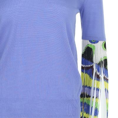 fringe detail knit top multi